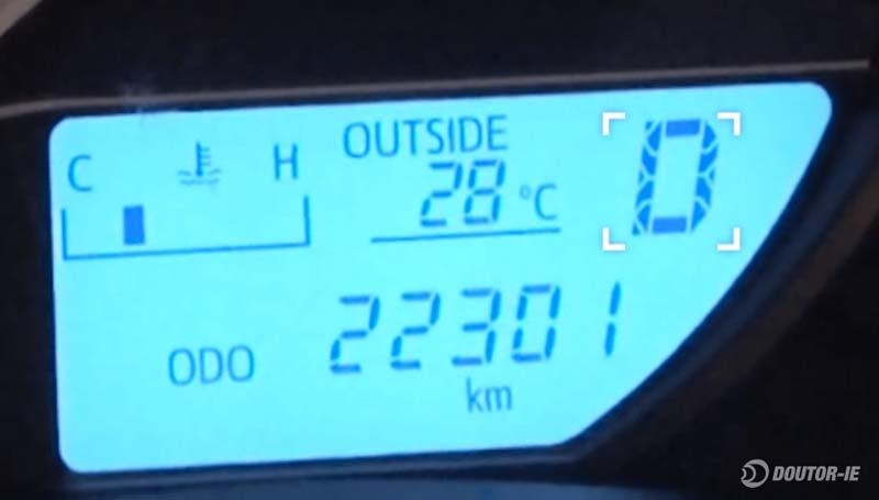 Toyota Corolla 1.8 - procedimento de verificação do nível de óleo transmissão CVT - indicação no painel de instrumentos