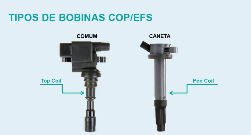 Sistema de ignição - tipos de bobina COP EFS