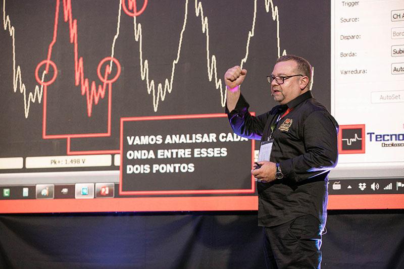 Marcos Chess Transdutores - palestrando no Circuito Doutor-IE 2019