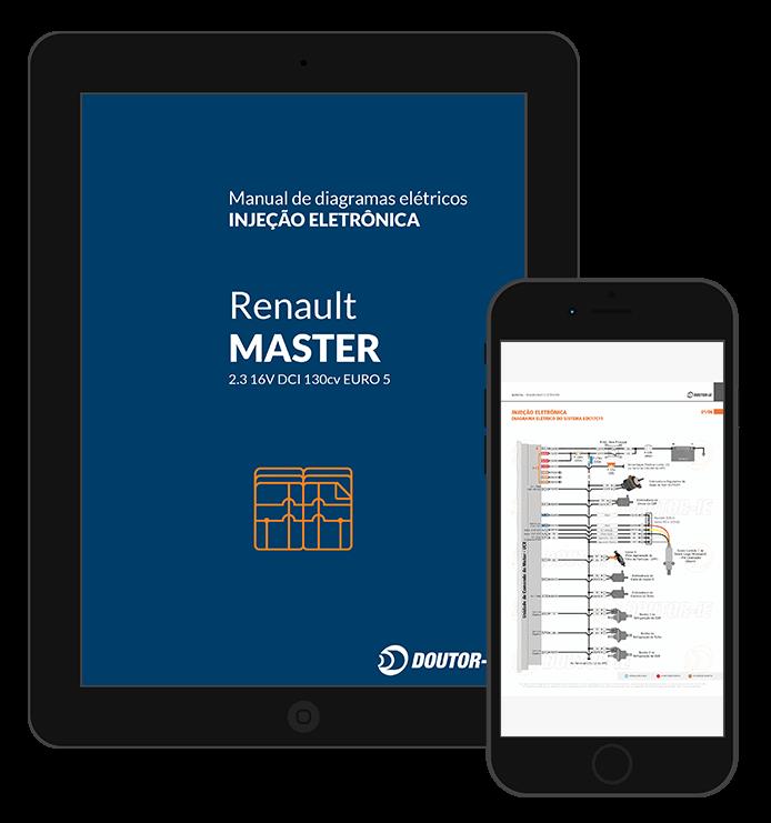 Ebook manual em PDF diagrama elétrico da injeção eletrônica - Renault Master Euro 5