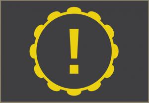 Lâmpada de aviso do trem de força.