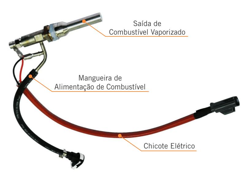 Componentes da vela vaporizadora da Ford Ranger.