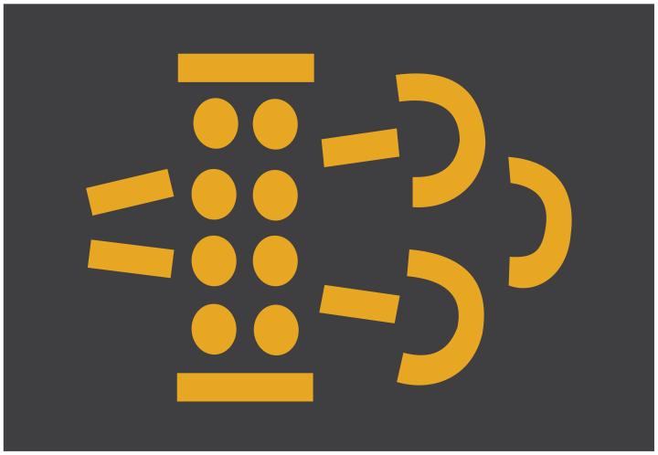 Luz indicadora de obstrução no filtro de partículas