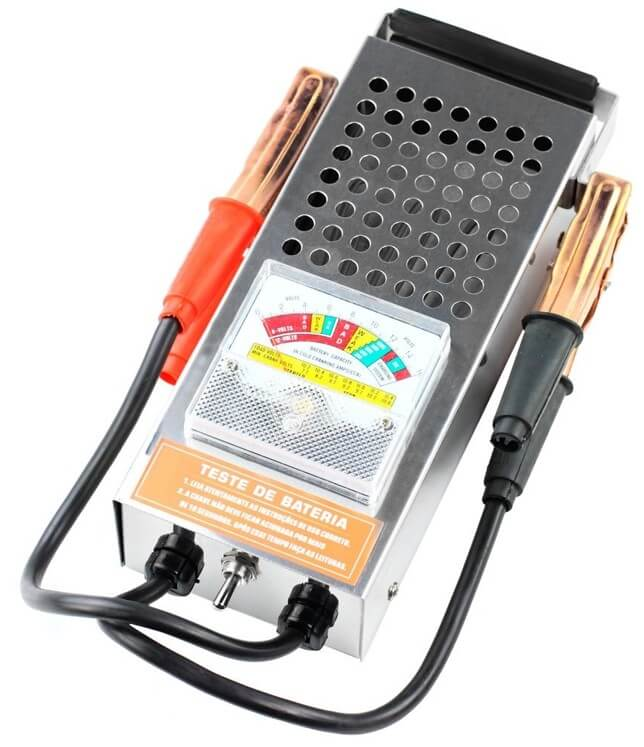 Exemplo de testador de bateria.