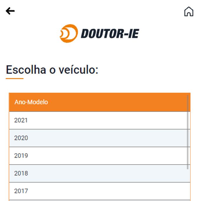 Mudança na busca por veículos na Plataforma Doutor-IE - app Android